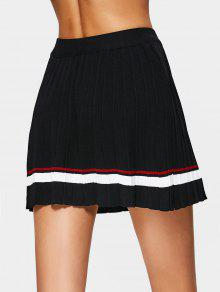 High Waist Striped Pleated Skirt BLACK: Skirts ONE SIZE | ZAFUL