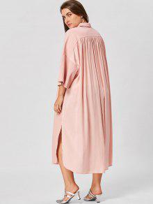 bergr e bluse kleid mit trompeten rmel nude pink kleider 2xl zaful. Black Bedroom Furniture Sets. Home Design Ideas