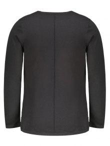 Trim Contraste 2xl Mens Sweater Negro fwnTnxqAd