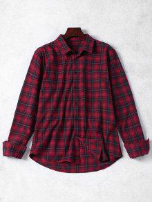 Chemise Boutonnée Boutonnée - Rouge M