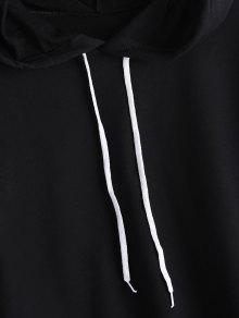Hoodie Panel Casual Stripes L Negro TZHxXESn