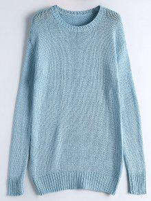 Long Sleeve Casual Chunky Sweater LIGHT BLUE: Sweaters ONE SIZE ...