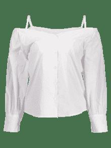 Bot La Fr Xl 243;n De Hasta 237;o Blanco Blusa Cami De Hombro ZrfRnqZ