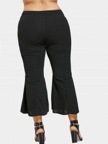 3xl Talla Con Negro Pantalones Inferior Parte Campana Grande De Uqdw81Rd