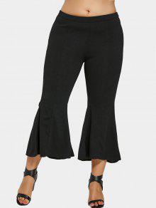 Pantalones Bell Bottom Plus Size - Negro 5xl