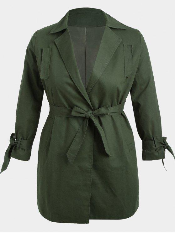 Manteau Enveloppant Grande Taille - Vert Armée 2XL