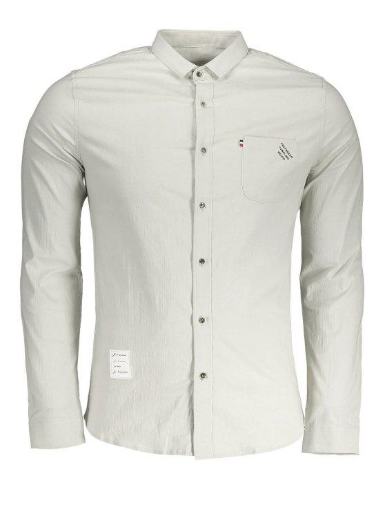 Camisa de bolsillo frontal con botones - Albaricoque 2XL