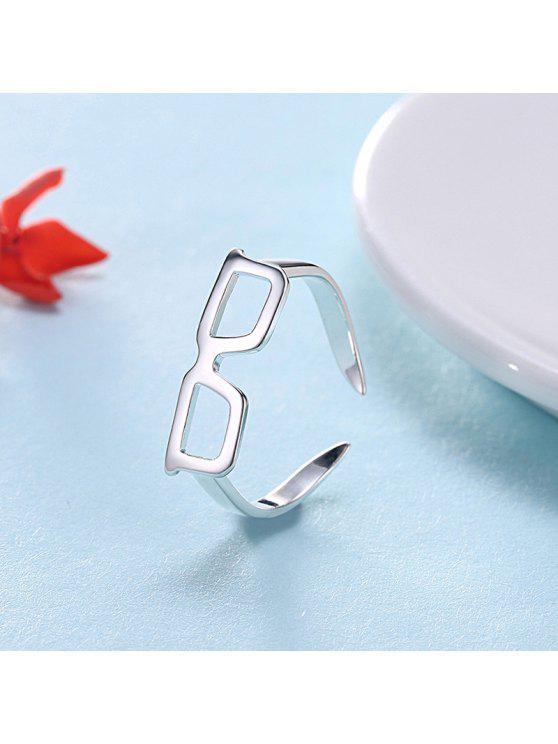 لطيف سبيكة نظارات الكفة الدائري - فضة