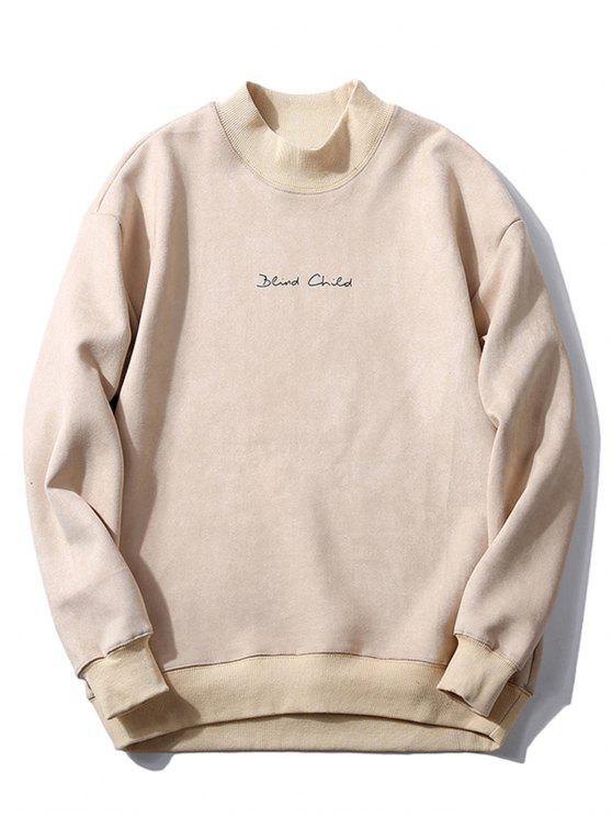 outfit Graphic Print Suede Sweatshirt Men Clothes - OFF-WHITE L
