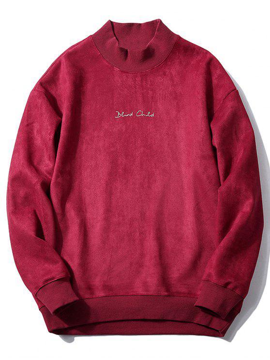 8d7d9ba0 25% OFF] 2019 Graphic Print Suede Sweatshirt Men Clothes In WINE RED ...