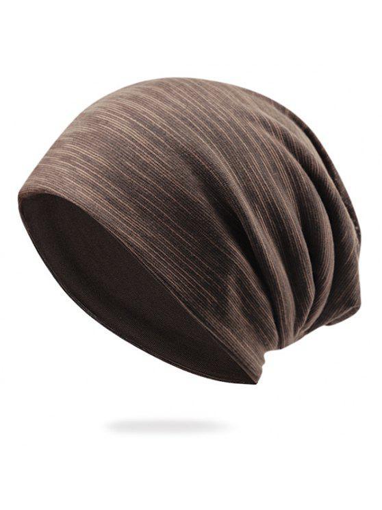 قبعة صغيرة غزل القطن المخلوطة قبعة - قهوة