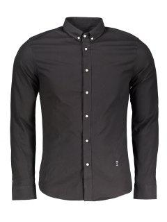 Button Down Formal Shirt - Black Xl