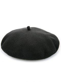 Woolen Blending Warm Pumpkin Painter Cap - Black