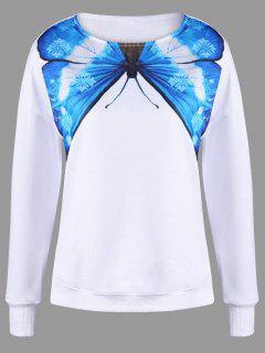 Camiseta De La Gota De La Impresión De La Mariposa - Blanco 2xl