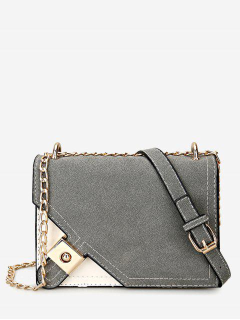 Sac en croûte Crossbody - gris  Mobile