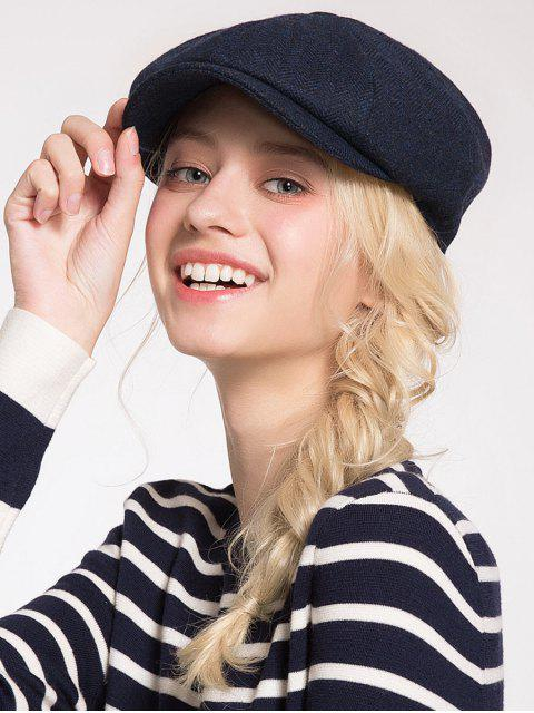 best Woolen Blending Narrow Brim Beret Hat - DEEP BLUE  Mobile