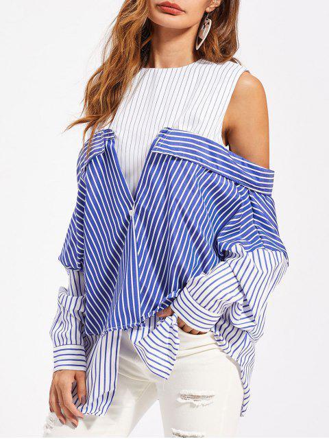 Camiseta de túnica rayada convertible - Multicolor 2XL Mobile