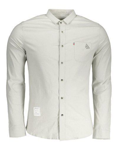 4d62ccaa27c4e Button Up Front Pocket Shirt - Apricot Xl