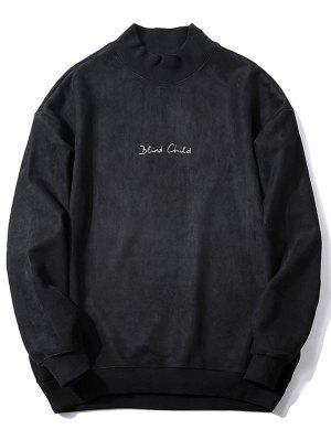 Sweat-shirt Ras du Cou Imprimé à Lettre en Suède