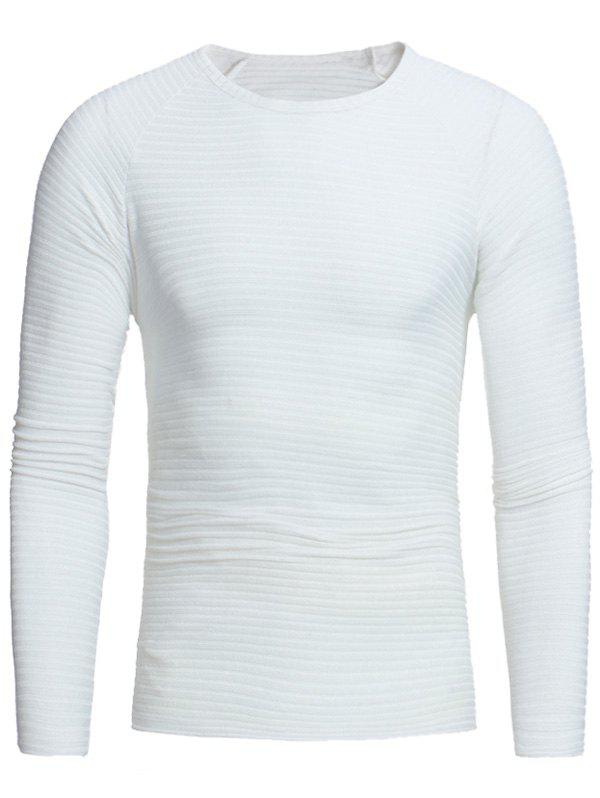Crew Neck Raglan Sleeve Ribbed Pullover Sweater 224467808