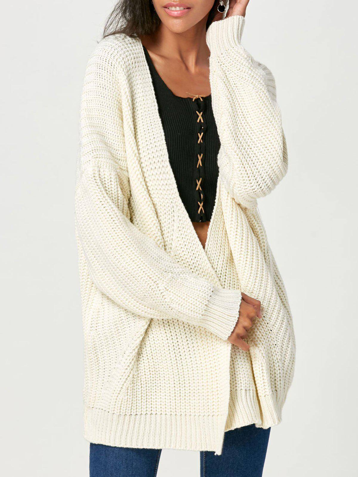 Open Front Chunky Sweater Cardigan 224015901