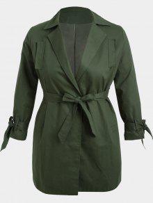 معطف الحجم الكبير لف قطني - الجيش الأخضر Xl