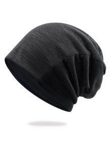 غزل القطن المخلوطة قبعة قبعة صغيرة - أسود