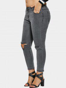 bergr e zerrissene jeans grau bottoms 4xl zaful. Black Bedroom Furniture Sets. Home Design Ideas