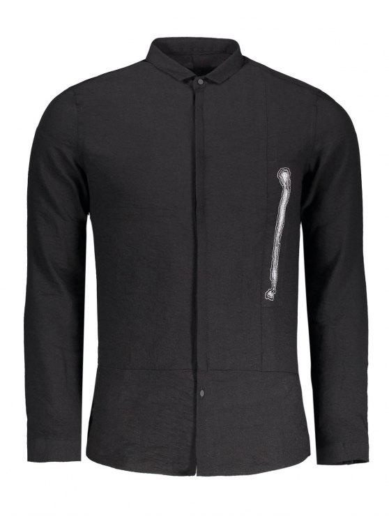 fancy Graphic Mens Shirt - BLACK 2XL