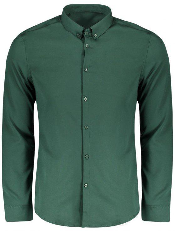 Chemise boutonnée - Vert 2XL