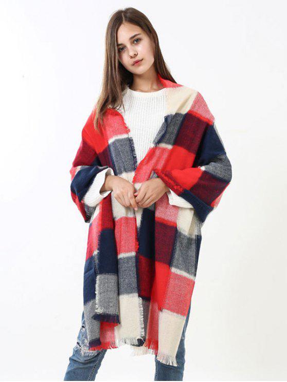 Écharpe bordée en tricot tricotée - RAL4007 Pourpre Violet