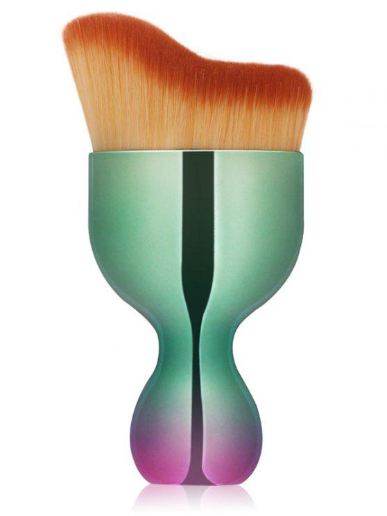hot Oblate Wine Glass Shape Makeup Foundation Brush - GREEN