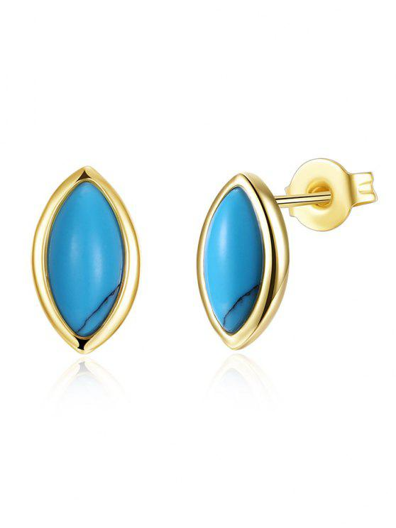 unique Bohemian Oval Tiny Stud Earrings - GOLDEN
