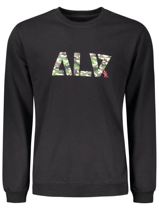 Graphic Basic Slim Fit Sweatshirt - Preto M