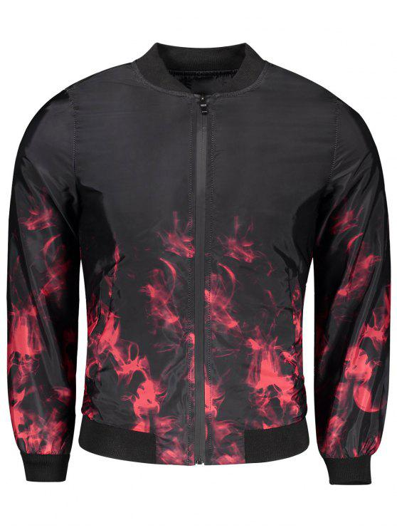 shop Tie Dye Bomber Jacket - RED M