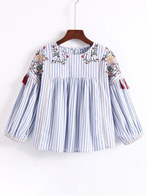 Blusa bordada con borlas bordadas florales - Raya M
