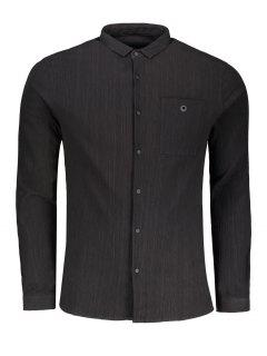 Snap-button Printed Shirt - Black Xl