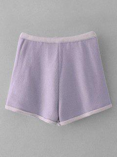 Knitted Two Tone Short - Light Purple