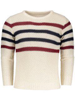 Chunky Striped Sweater - Beige Xl