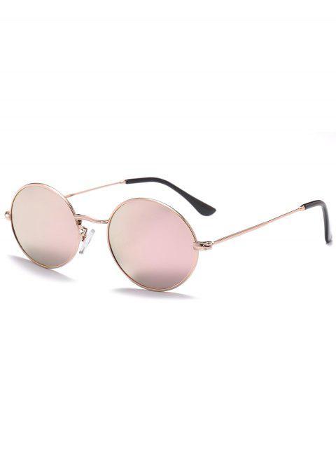 Lunettes de Soleil Ovales Anti-UV - Rose Foncé   Mobile