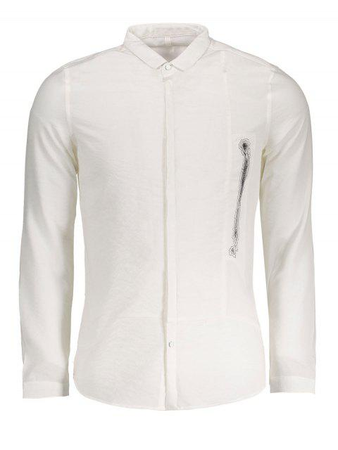 online Graphic Mens Shirt - WHITE 3XL Mobile