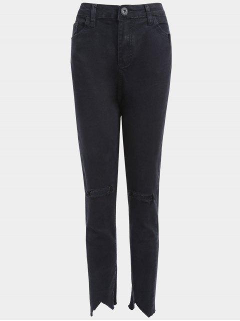 Übergröße Zerrissene Jeans - Schwarz 2XL Mobile