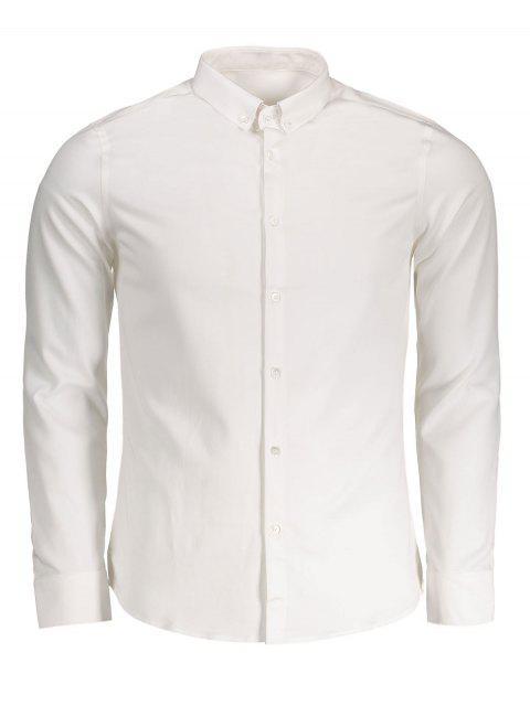 lady Button Down Shirt - WHITE 2XL Mobile