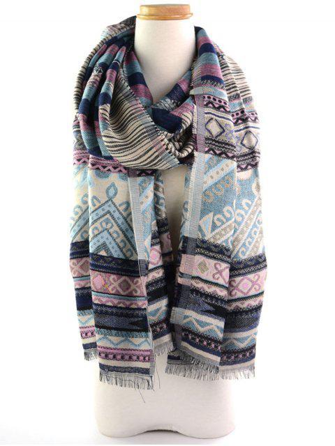 Echarpe en écharpe à motifs à motifs géométriques géométriques ethniques - Delphinium  Mobile