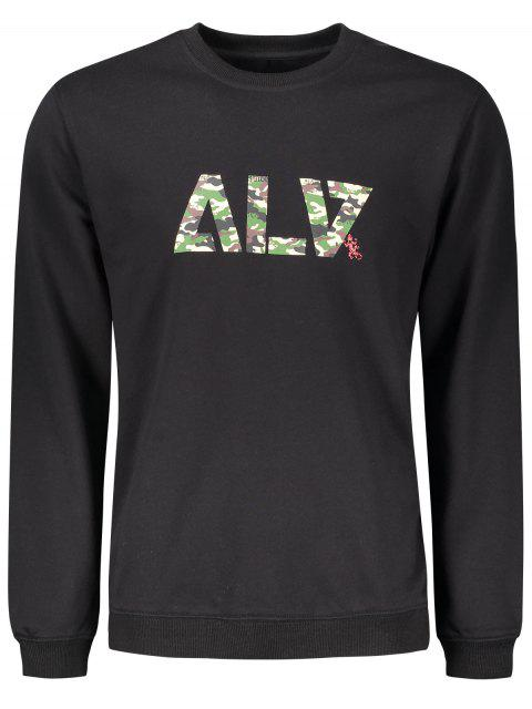outfit Graphic Basic Slim Fit Sweatshirt - BLACK M Mobile