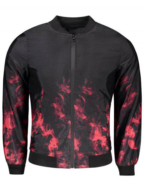 shop Tie Dye Bomber Jacket - RED M Mobile