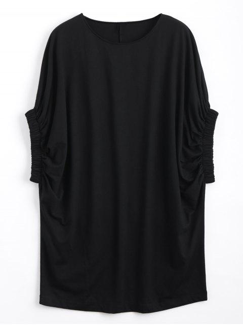 Casual Dressing Sleeve Tee Mini Dress - Noir S Mobile