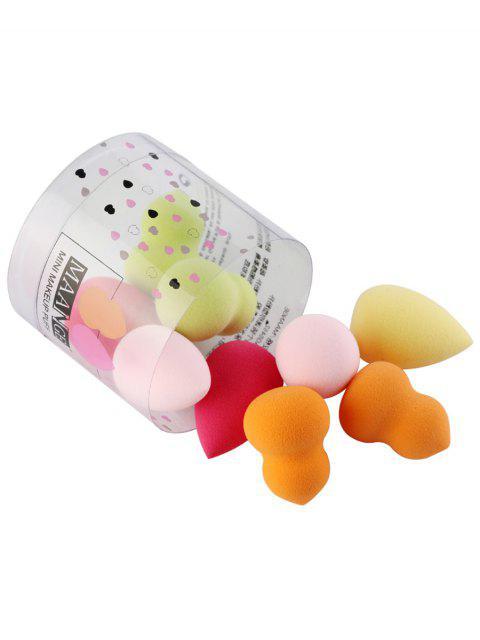Mini Freidoras de Polvo de Maquillaje Multifunctional con Caja de 10 Piezas - Multicolor  Mobile