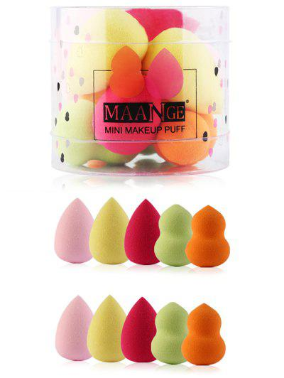 Image of 10Pcs Multifunctional Makeup Powder Blenders with Box
