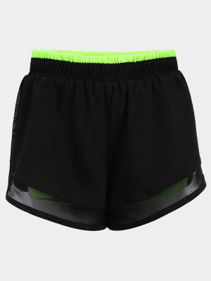 Shorts de course à double couche mous
